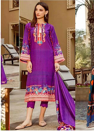 Ittehad Textiles Printed Lawn Unstitched 3 Piece Suit ITD20CS 48A - Summer Co...
