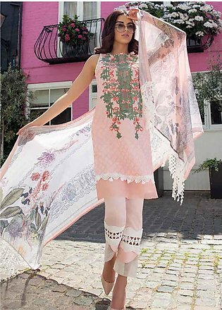 Sobia Nazir Embroidered Lawn Unstitched 3 Piece Suit SN20L 1A - Summer Collec...