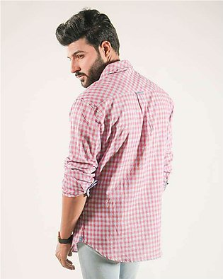 Red Tree Cotton Casual Men Shirts - Pink RT2988