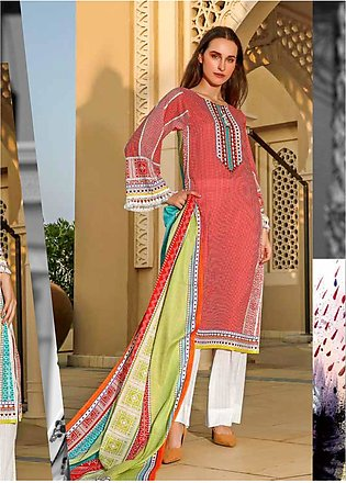 Ittehad Textiles Printed Lawn Unstitched 3 Piece Suit ITD20CS 50B - Summer Co...