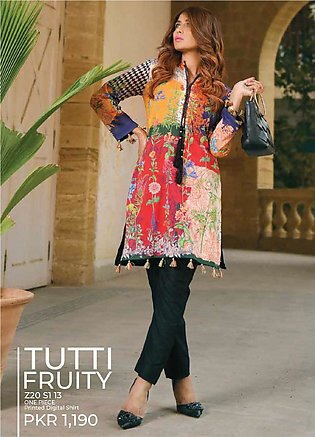 Tarzz Printed Lawn Unstitched Kurties TZ20SL Z20 13 - Summer Collection