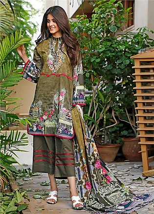 Firdous Fashion Printed Cambric Unstitched 3 Piece Suit FF19W 4B - Winter Colle…