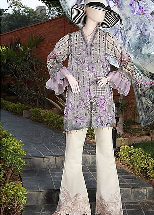 Saya Embroidered Lawn Unstitched 3 Piece Suit SY18F 5A - Festive Collection