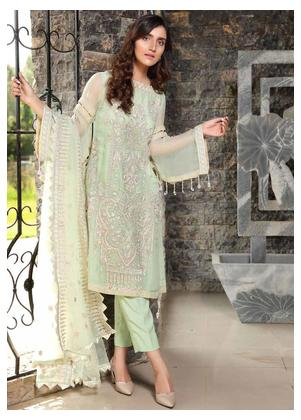 Motifz Embroidered Bemberg Chiffon Unstitched 3 Piece Suit MTF19-C4 2291 Appearing - Luxury Collection