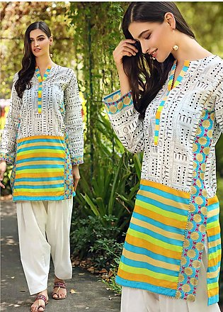 Gul Ahmed Printed Cambric Unstitched Kurties GA20CM SCN-126 B - Summer Collecti…