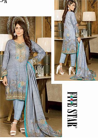 Five Star Printed Lawn Unstitched 3 Piece Suit FS20CL 1225A - Spring / Summer...