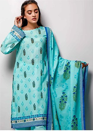 Gul Ahmed Printed Lawn Unstitched 3 Piece Suit GA20SE-7 CL-740 B - Spring / Sum…