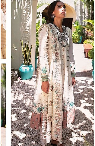 Qalamkar Embroidered Lawn Unstitched 3 Piece Suit QLM20L 08 - Luxury Collection