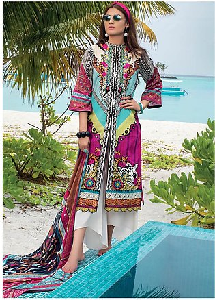 Zainab Chottani Embroidered Lawn Unstitched 3 Piece Suit ZC20LL 4B - Luxury C...