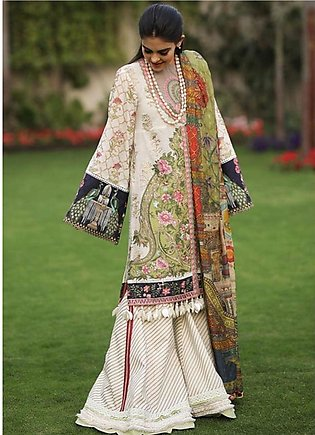 Crimson Embroidered Lawn Unstitched 3 Piece Suit CRM19L 3A - Spring / Summer ...
