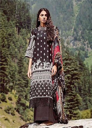 Zara Shahjahan Embroidered Lawn Unstitched 3 Piece Suit ZSM18L 08 - Luxury Co...