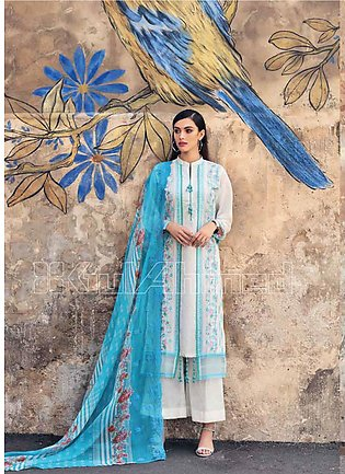 Gul Ahmed Embroidered Jacquard Unstitched 3 Piece Suit GA20PL CT-260 - Spring /…