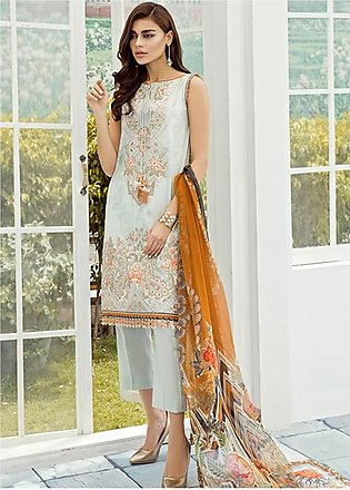 Baroque Embroidered Lawn Unstitched 3 Piece Suit FC19-L2 03 BEGONIA - Mid Sum...