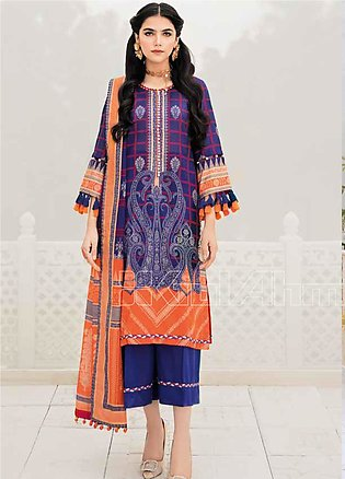 Gul Ahmed Printed Lawn Unstitched 3 Piece Suit GA20SBL CL 752 - Summer Collecti…