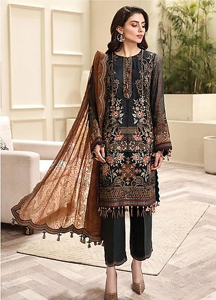 Jazmin Embroidered Chiffon Unstitched 3 Piece Suit JZ20AL 7 - Luxury Collection