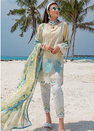 Zainab Chottani Embroidered Lawn Unstitched 3 Piece Suit ZC20LL 1A - Luxury C...