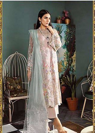 Freesia by Suffuse Embroidered Zari Net Unstitched 3 Piece Suit FRS19ZN 5 ROS...