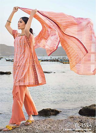 Gul Ahmed Embroidered Lawn Unstitched 2 Piece Suit GA20SBL TL 259A - Summer Col…