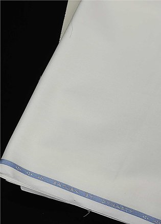 Dynasty Plain Wash N Wear Unstitched Fabric Saturn Cream - Summer Collection