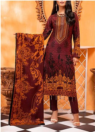 Salitex Printed Lawn Unstitched 3 Piece Suit ST20IL-2 22B Mehroon - Spring / ...