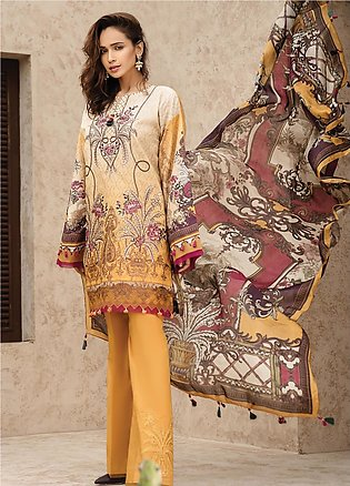 IRIS by Jazmin Embroidered Lawn Unstitched 3 Piece Suit JZ20I 7 - Summer Coll...
