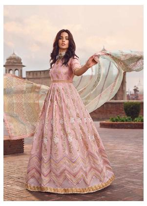 Shahnameh by Qalamkar Embroidered Silk Unstitched 3 Piece Suit QLM19SH 02 - Luxury Collection
