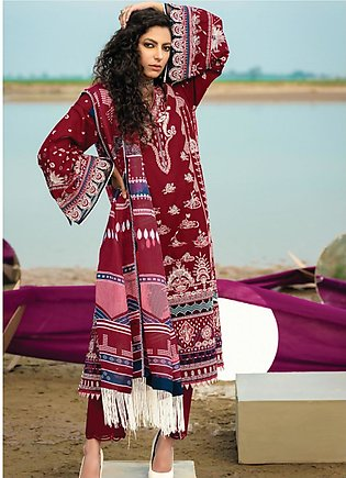 Baroque Embroidered Lawn Suits Unstitched 3 Piece BQ21SL 09 Coral Bell - Summer…