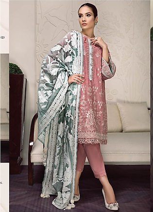 Baroque Embroidered Lawn Unstitched 3 Piece Suit BQ19-S2 04 ZOEY - Mid Summer...