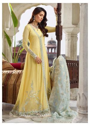 Qalamkar Embroidered Chiffon Unstitched 3 Piece Suit QLM19WD 05 Asin - Wedding Collection