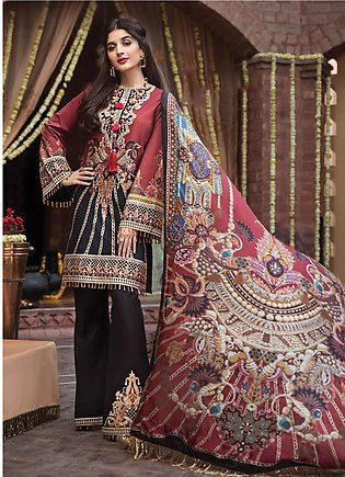 Anaya by Kiran Chaudhry Embroidered Lawn Unstitched 3 Piece Suit AKC19F 10 BO...