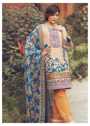 Al Karam Embroidered Lawn Unstitched 3 Piece Suit SS-15B - Spring / Summer Collection