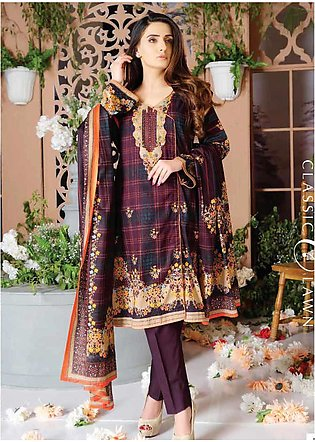 Five Star Printed Lawn Unstitched 3 Piece Suit FS20CL-1 1201B - Spring / Summer…