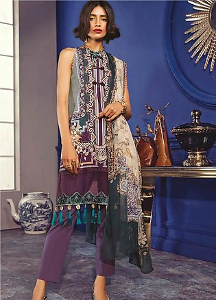 Maria B Embroidered Khaddar Unstitched 2 Piece Suit MBP19WE 7011 B - Winter C...