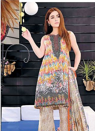 Five Star Printed Lawn Unstitched 3 Piece Suit FS19L 1217B - Spring / Summer ...