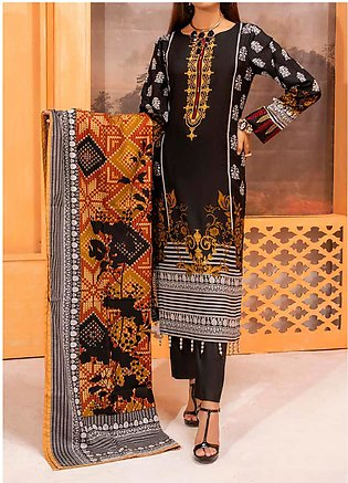 Salitex Printed Lawn Unstitched 3 Piece Suit ST20IL-2 27A Black - Spring / Summ…