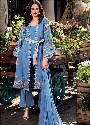 Gul Ahmed Embroidered Cotton Silk Unstitched 3 Piece Suit GA19E FE-176 - Eid ...