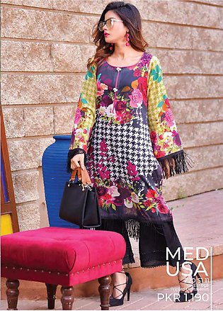 Tarzz Printed Lawn Unstitched Kurties TZ20SL Z20 11 - Summer Collection