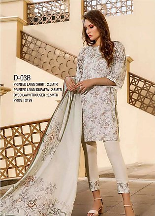 Ittehad Textiles Printed Lawn Unstitched 3 Piece Suit ITD20CS 03B - Summer Co...