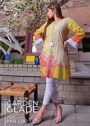 Tarzz Printed Lawn Unstitched Kurties TZ20SL Z20 10 - Summer Collection