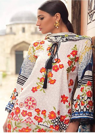 Mina Hasan Embroidered Lawn Unstitched 3 Piece Suit MH18L 8A - Festive Collec...