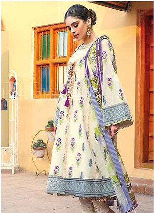Gul Ahmed Printed Jacquard Unstitched 3 Piece Suit GA20SBL TR 04 - Summer Colle…