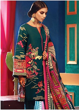 RajBari Embroidered Khaddar Unstitched 3 Piece Suit RB18K 6A - Winter Collection
