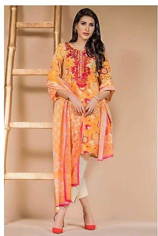 Zeen By Cambridge Embroidered Linen Unstitched 3 Piece Suit ED17W 377002