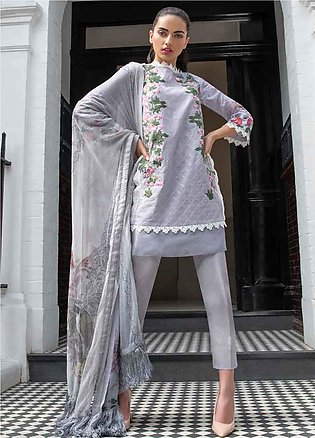 Sobia Nazir Embroidered Lawn Unstitched 3 Piece Suit SN20L 1B - Summer Collec...