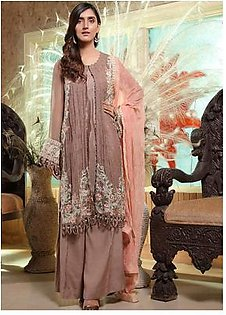 Motifz Embroidered Bemberg Chiffon Unstitched 3 Piece Suit MTF19-C4 2288 Paint Floral - Luxury Collection