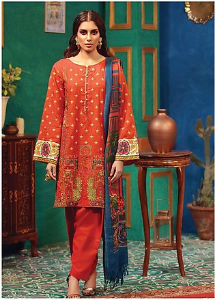 RajBari Embroidered Khaddar Unstitched 3 Piece Suit RB18K 5B - Winter Collection