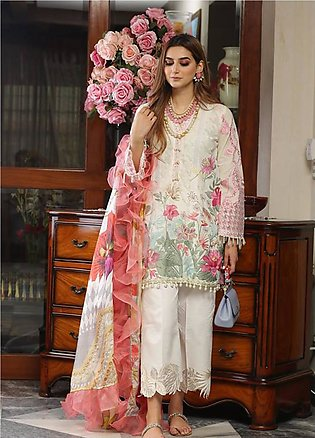 Crimson Embroidered Lawn Unstitched 3 Piece Suit CRM19L 9B - Spring / Summer ...