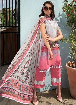 Sobia Nazir Embroidered Lawn Unstitched 3 Piece Suit SN20L 7A - Summer Collec...