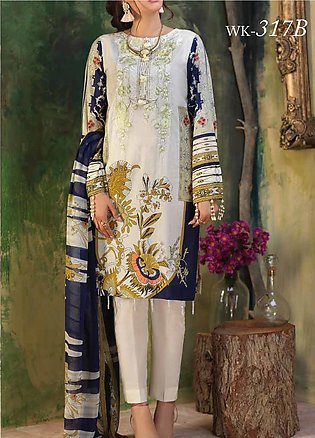 Salitex Embroidered Lawn Unstitched 3 Piece Suit ST19ZL 317B - Summer Collection