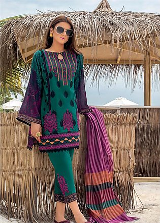 Zainab Chottani Embroidered Lawn Unstitched 3 Piece Suit ZC20LL 6B - Luxury C...